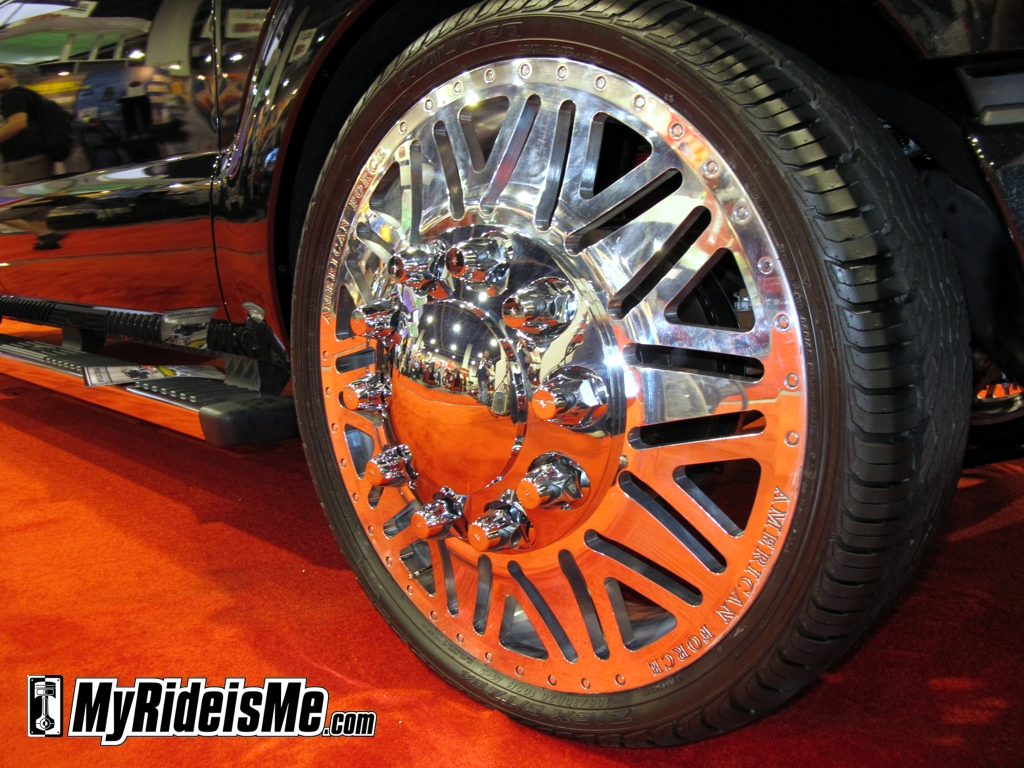 custom truck rims, ugly wheels, ugly rims, SEMA Show 2010, product display