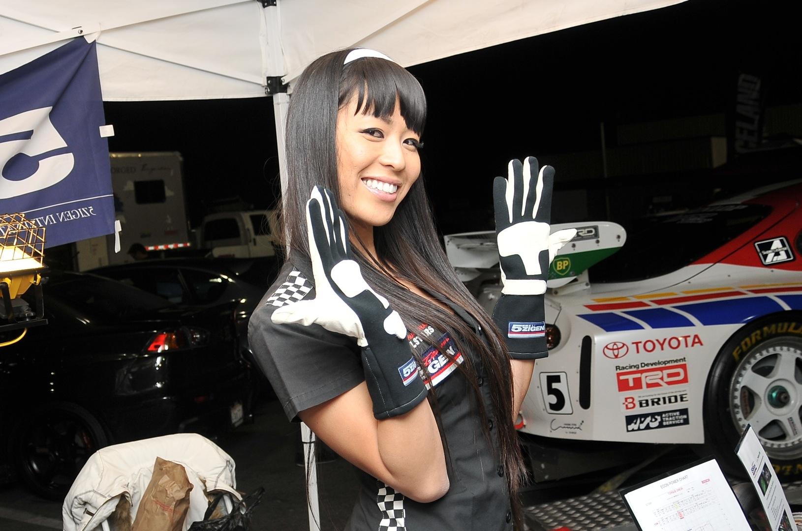 5zigen, Eri, model, racing gloves, gymkhana