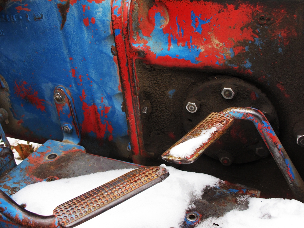 Ford Tractor Detail, Ford 800 Tractor in Snow, vintage tractor, vintage ford tractor, tractor in snow, car photography