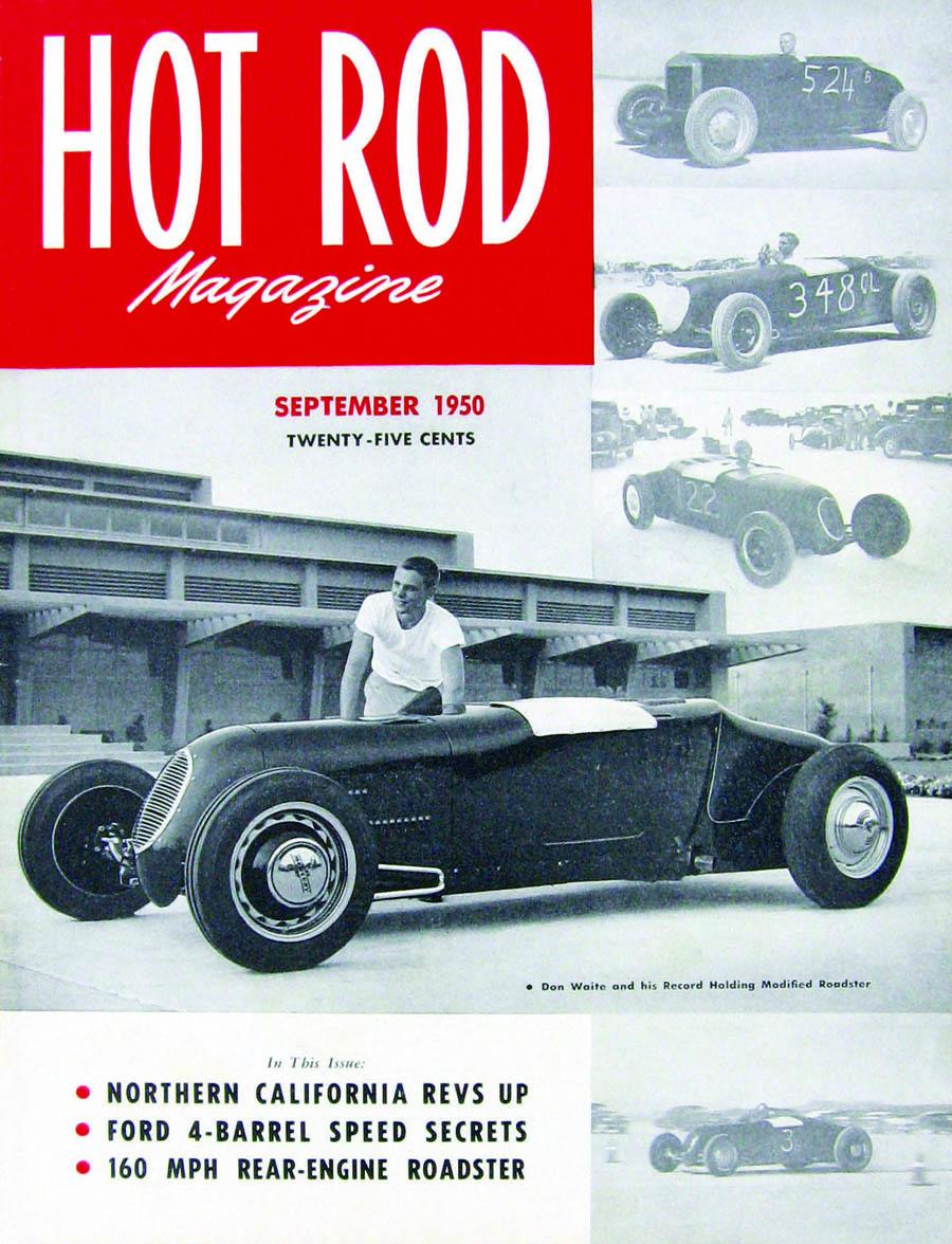 Hot Rod Magazine, cover cars, 50's style hot rod