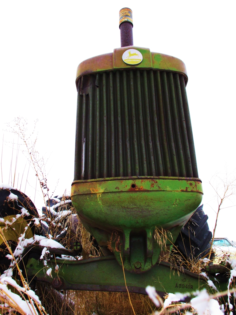 John Deere Tractor Grill : Old cars in snow car photography myrideisme