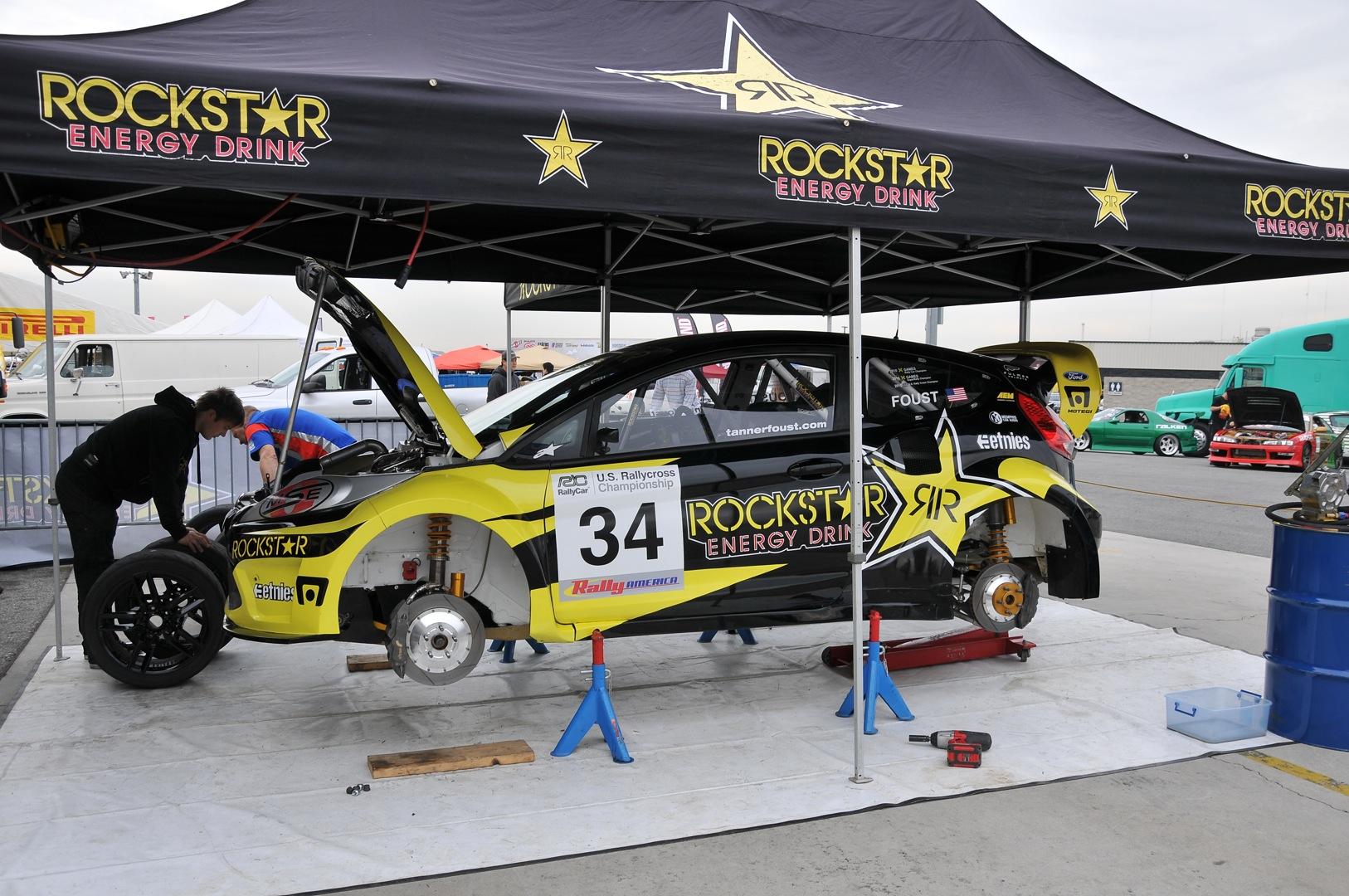 Rockstar Energy, Rally, Ford Fiesta, pit, gymkhana