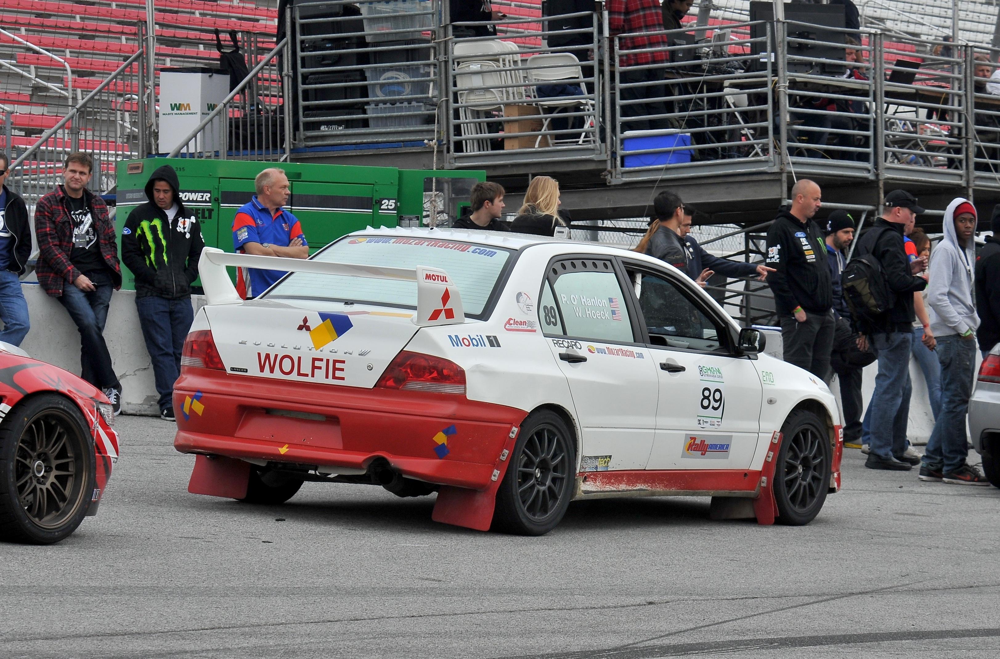 Wolfgang Hoeck, Wolfie, Mitsubishi Evo8, gymkhana