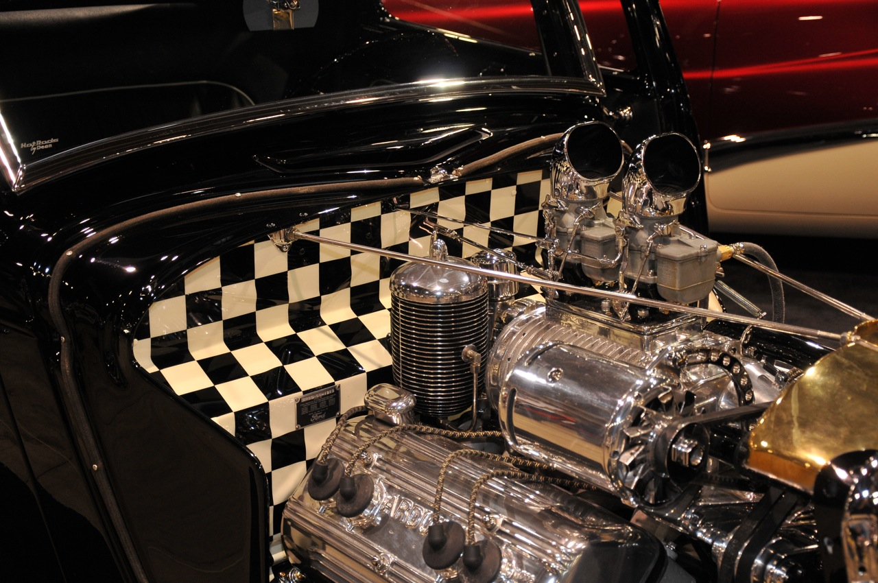 1933 Ford 3 window, checkered firewall