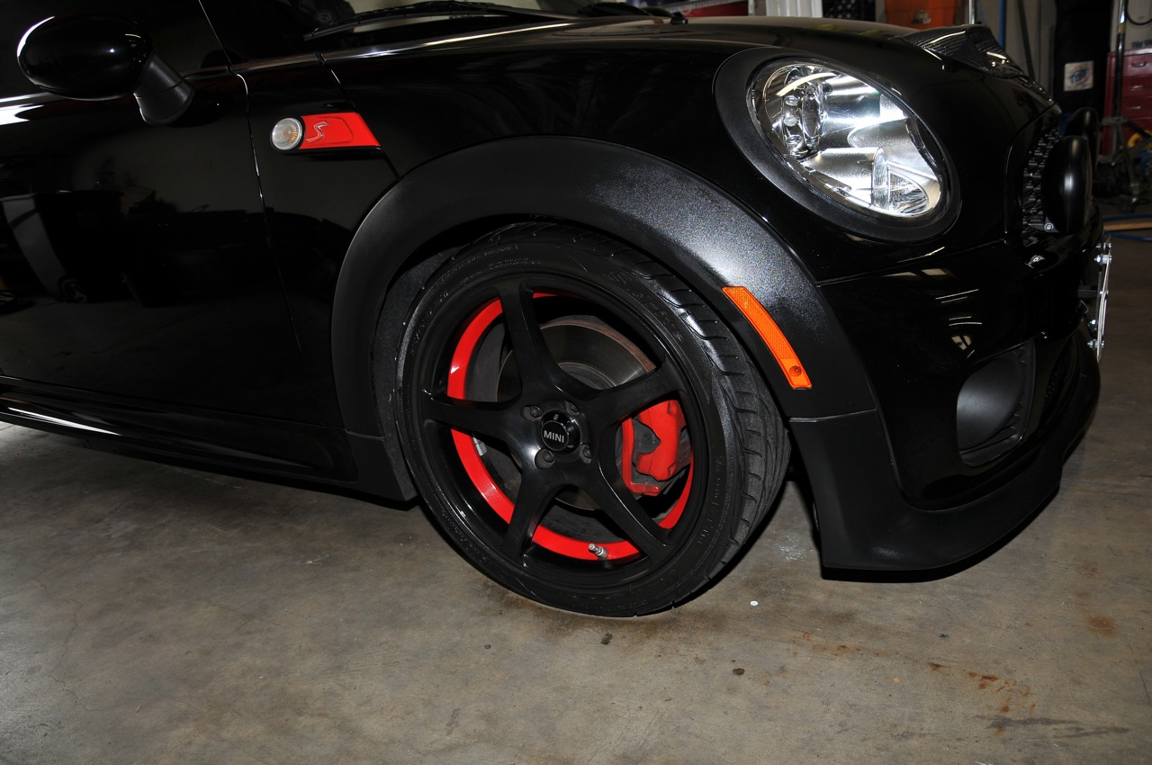 Clubman custom wheels, powdercoat red, mini