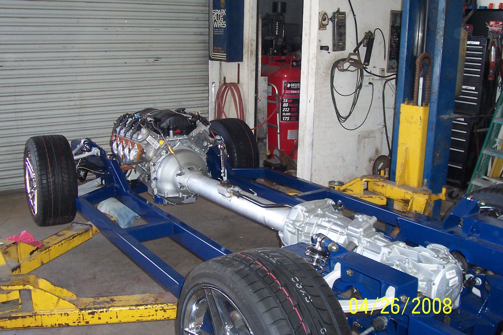 modern corvette chassis, corvette custom chassis