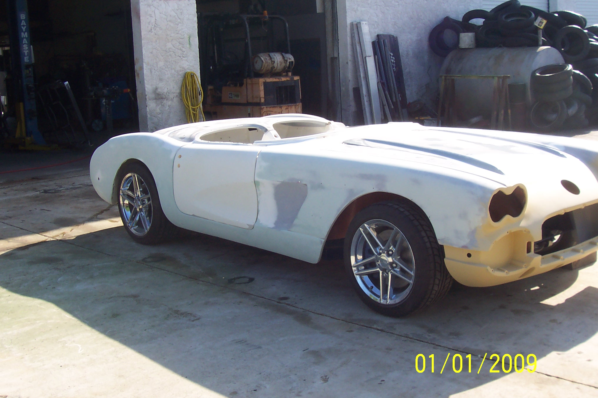 corvette restoration, bodywork, corvette body repair