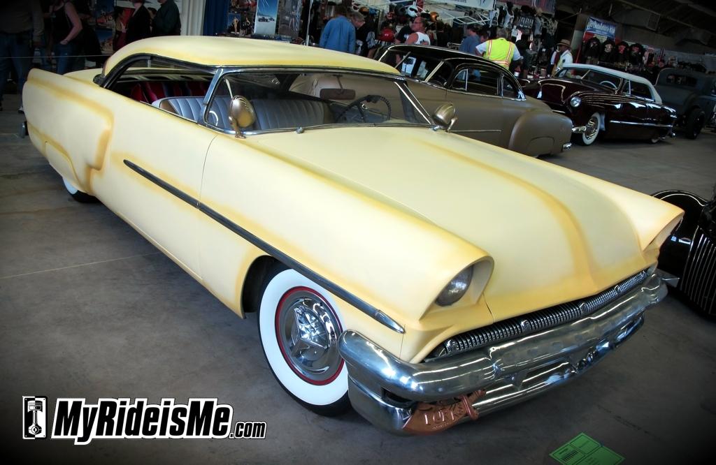 1953 Mercury custom, Mercury Monterey, Chopped Custom Car,2011 Suede Palace, 2011 GNRS, Grand National Roadster Show,flat paint, custom flat paint