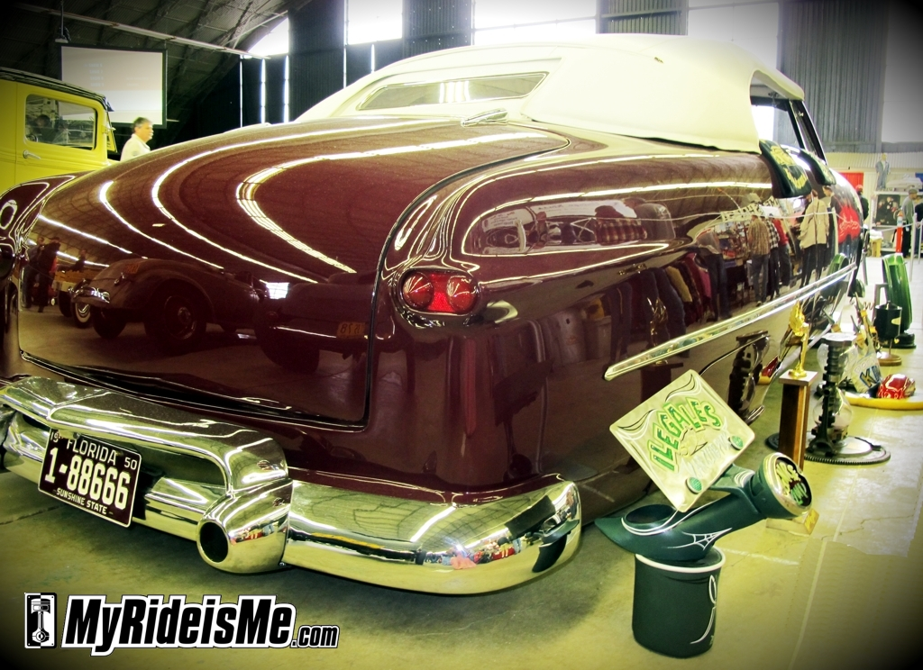 1950 Shoebox custom,Awards in Suede Palace, custom trophies, 2011 GNRS, grand national roadster show