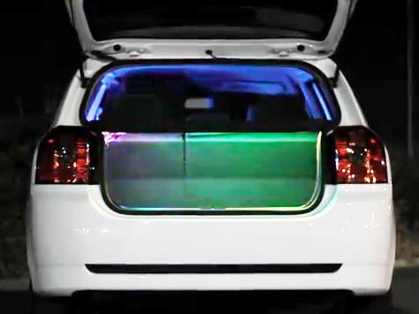 iGloLEDset Car Install 2, Color Led light Strip