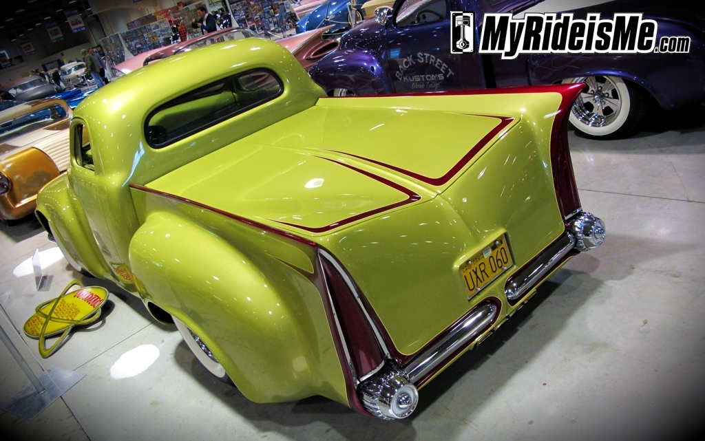 Custom Pickup Rear View, 2011 GNRS, custom pickup, 1949 Studebaker, gene winfield tailights