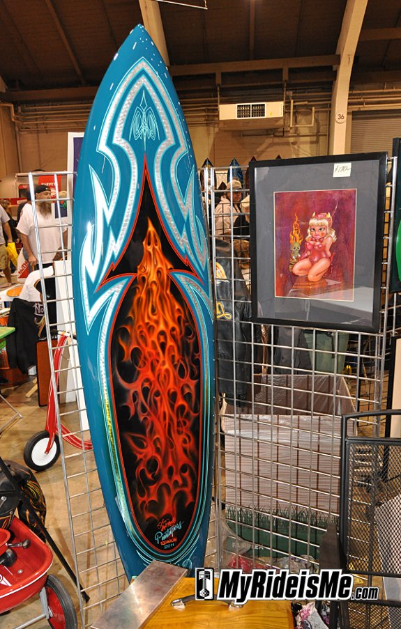 Pinstriping Hot Rod Art at 2011 GNRS - Dave Whittle