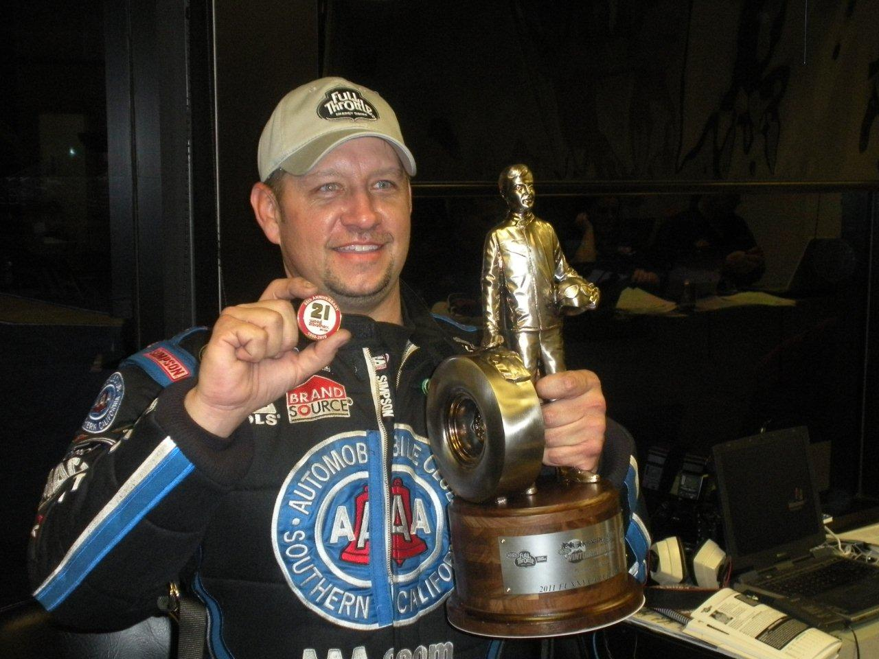 2011 Winternationals winner,team force, John force racing, Robert Hight