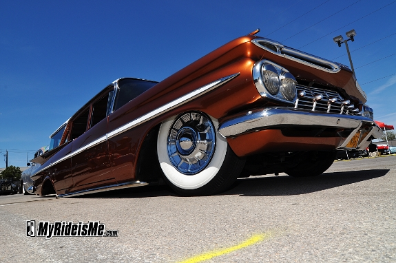 VLV14, rockabilly car show, custom chevy wagon, laid out wagon