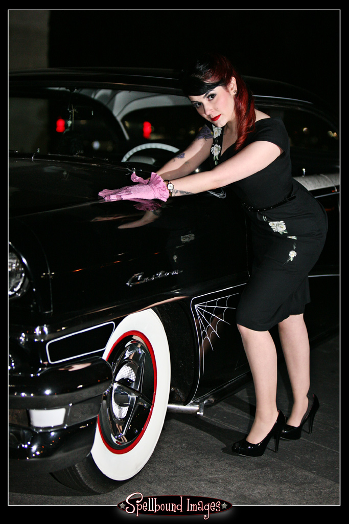 hot rod pinup, pin up girl, pinups, pin-up model, pin up photography, rat rod pinup, tattooed pinup, GNRS 2011