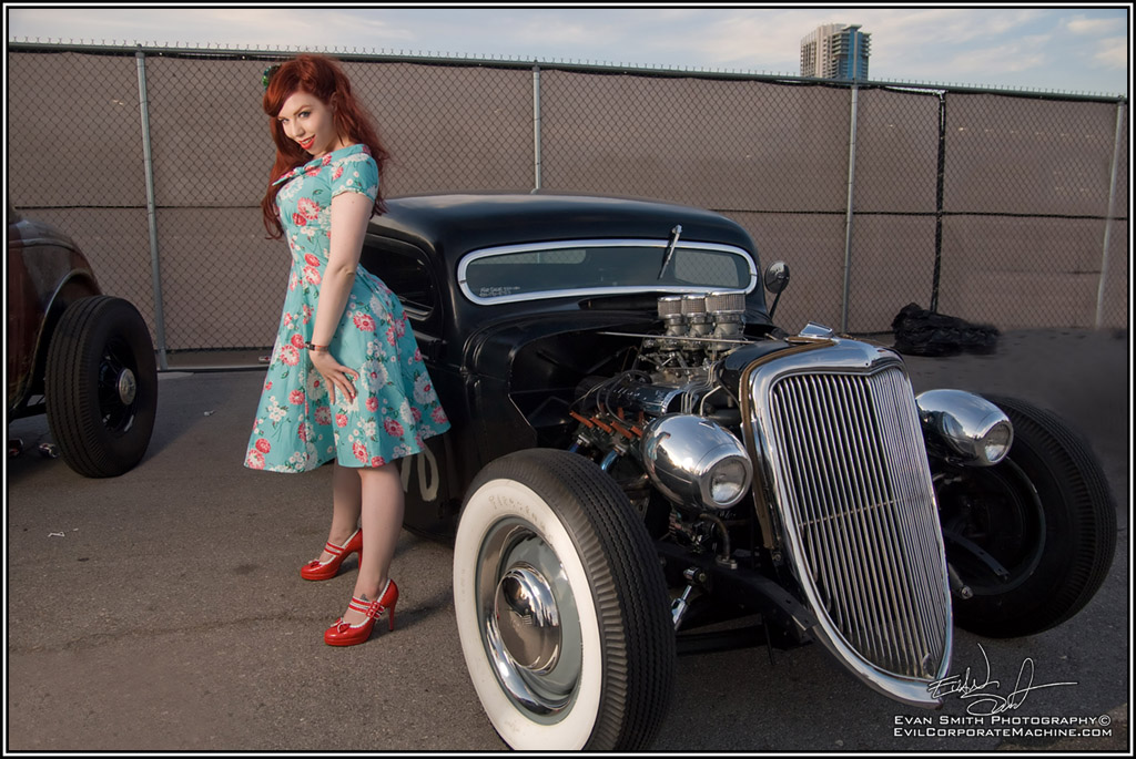 Pin Up Girl, Fetish Model Ludella, Pin Up Model, Hot rod Pinup, Hot Rod Model, Pin-ups