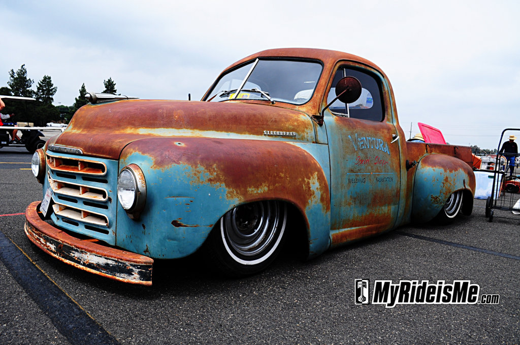 custom Studebacker Pickup, rat rod studebaker