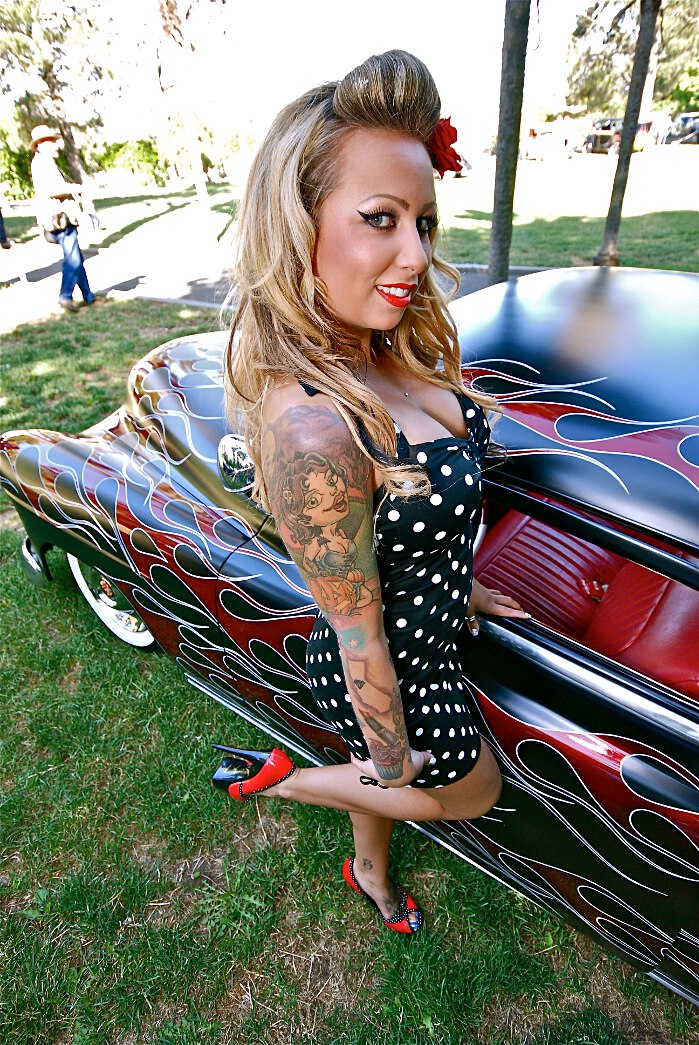 hot rod pinup, norcal knockout, hot rod pin up girl pictures