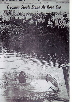 Scuba divers at the 1961 Rose Cup