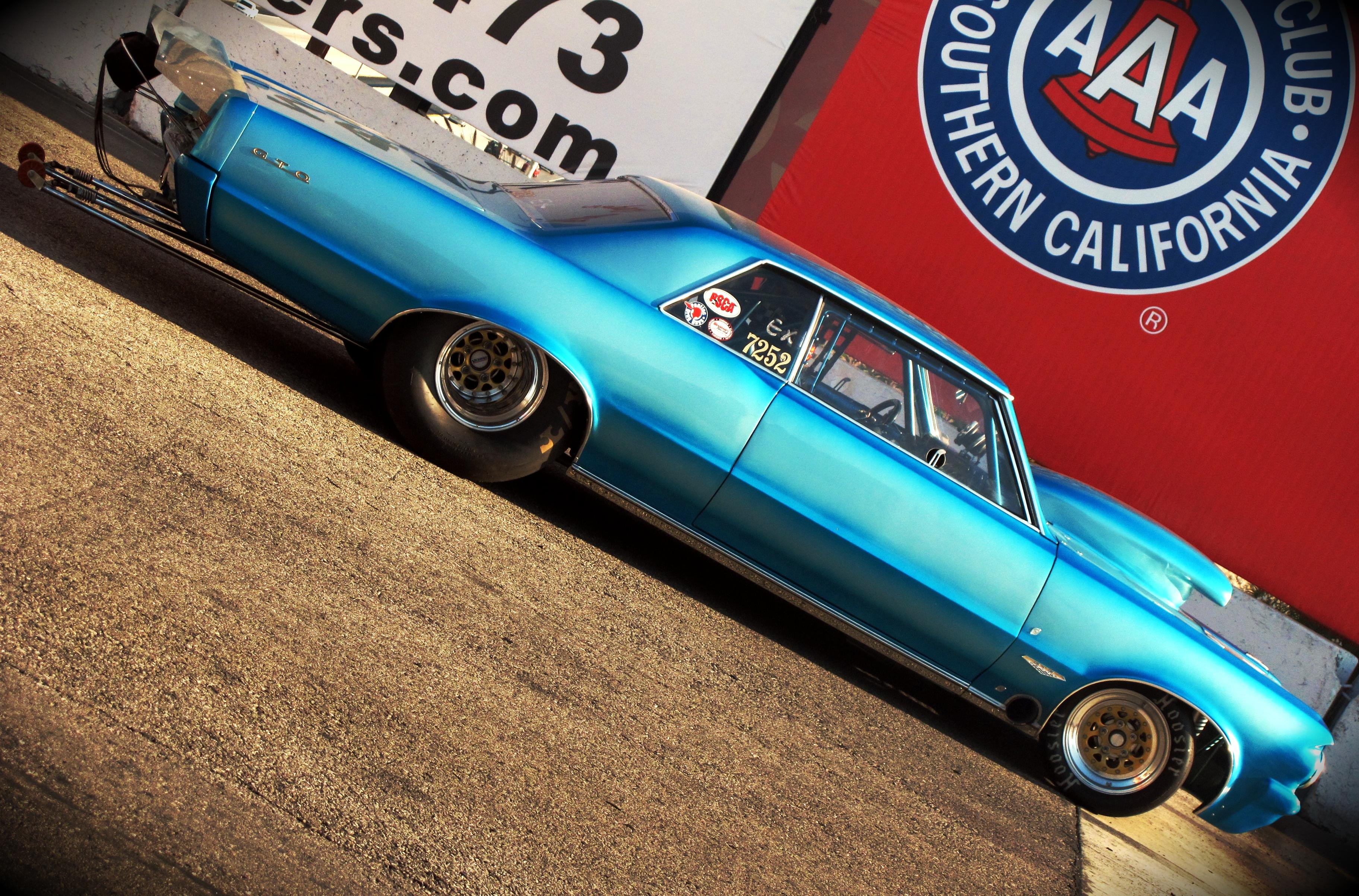 1964 Pontiac GTO Drag Racer, drag racing, drag race, irwindale speedway, irwindale raceway
