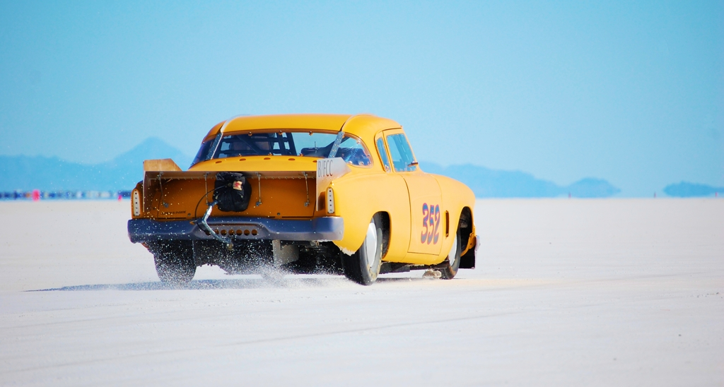 Studebaker Coupe 352, land speed racing, 1953 Studebaker coupe, Bonneville, salt flats