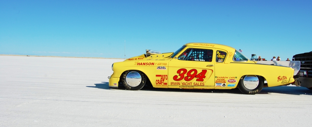 1953 Studebaker Coupe on the Salt Flats, land speed racing, 1953 Studebaker coupe, Bonneville, salt flats