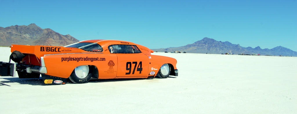 land speed racing, 1953 Studebaker coupe, Bonneville, salt flats