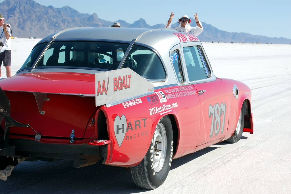 Studebaker Coupe 787, land speed racing, 1953 Studebaker coupe, Bonneville, salt flats