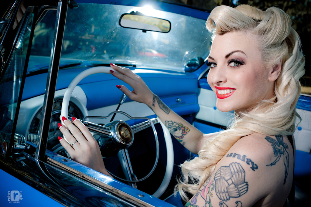 Rat rods and pin up girls tattoos