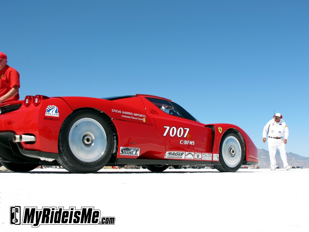 Ferrari Enzo, racing ferarri,2011 Bonneville Speed Week