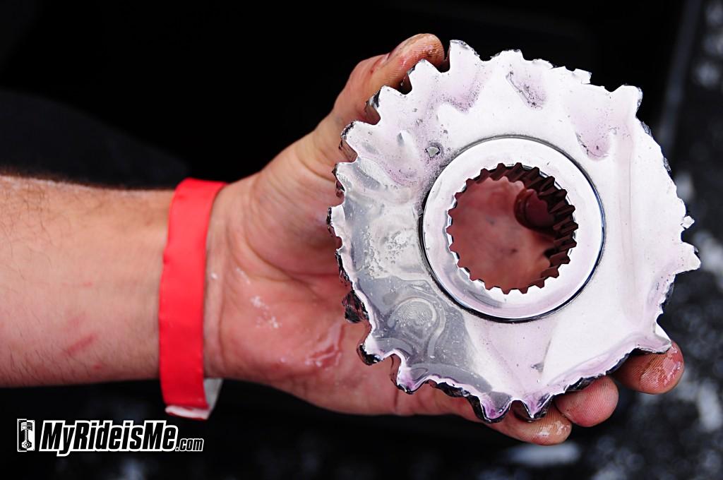 2011 Bonneville Speed Week, parts destroyed