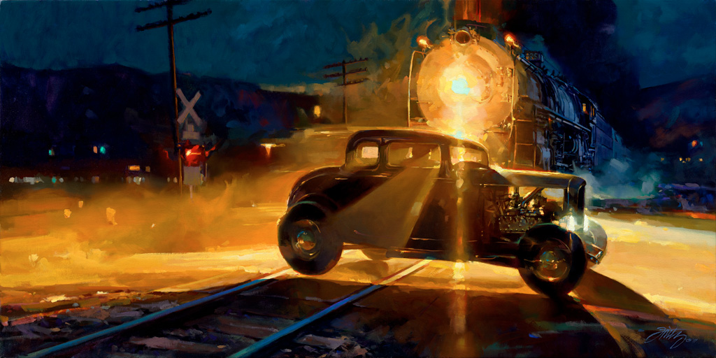 hot rod art, hot rod paintings