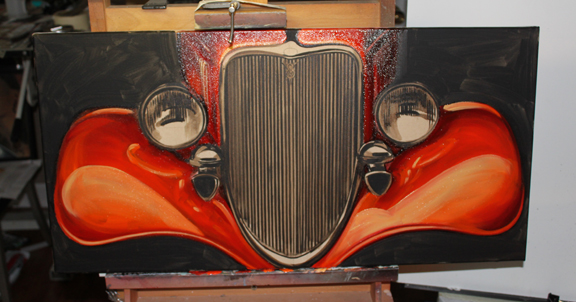 how to draw cars, low brow art, lowbrow art, james owens, hot rod art