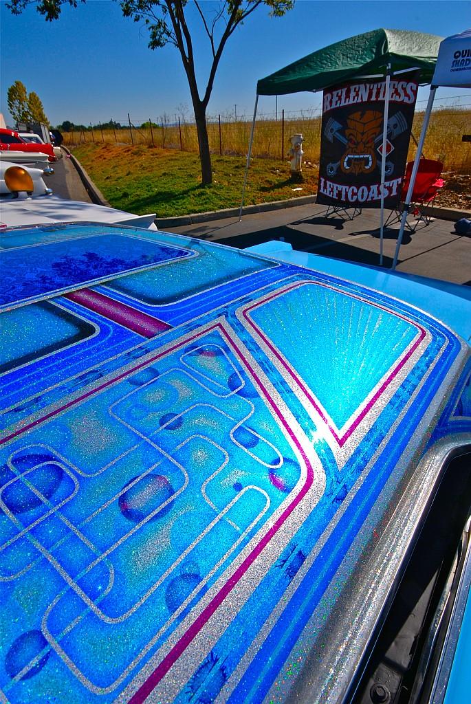 custom paint, roof flake
