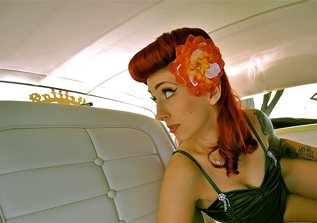 Hot Rod Pinups, northern california car shows, pinup photography