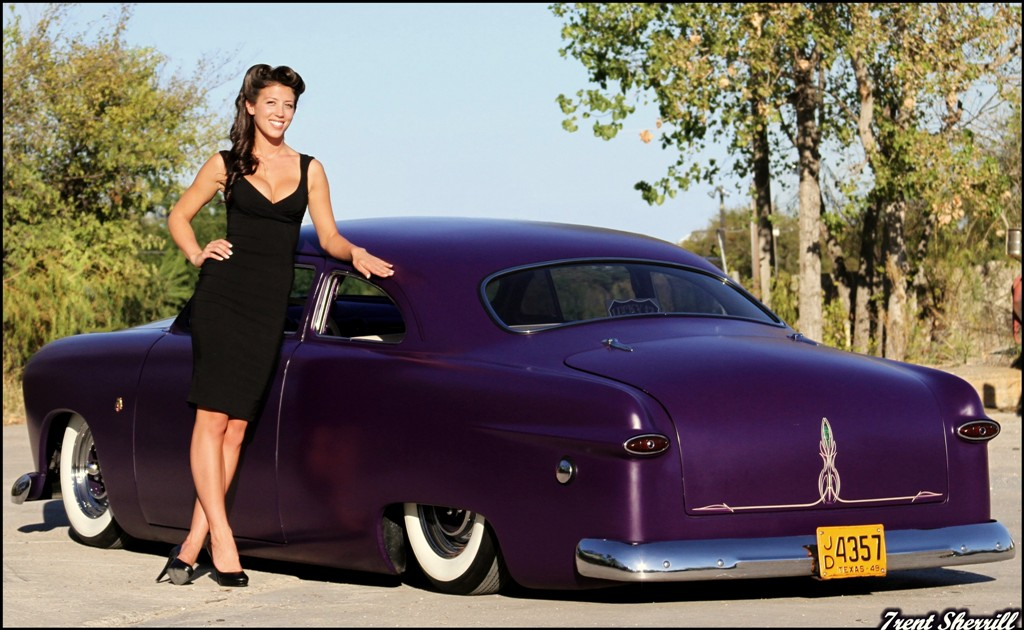 hot rod pinup, 1949 Ford Coupe, shoe box ford