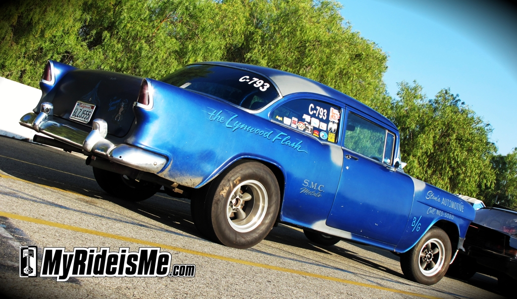 Gasser, 1955 Chevy Coupe, Hot Rod