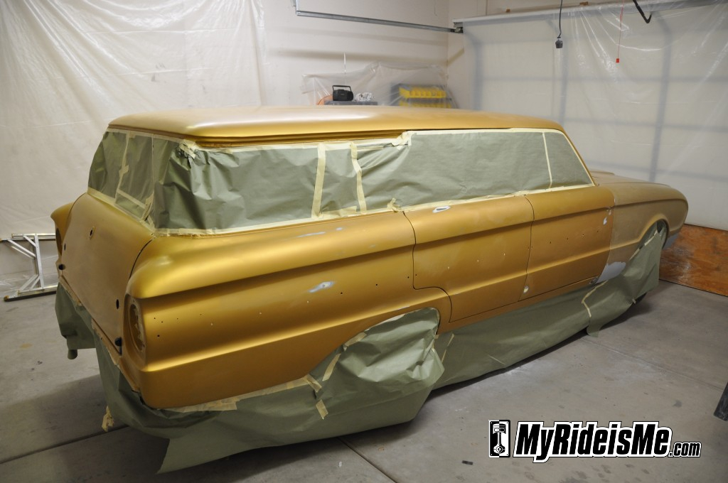 1963 Ford Falcon Wagon, flat paint job, flat clear coat