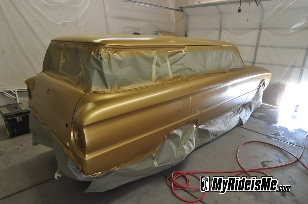 flat paint job, flat clear, ford falcon