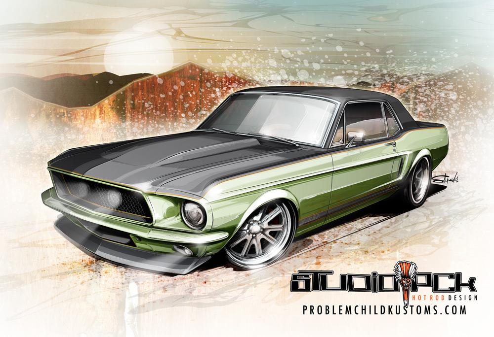 hot rod art, car art, drawing cars