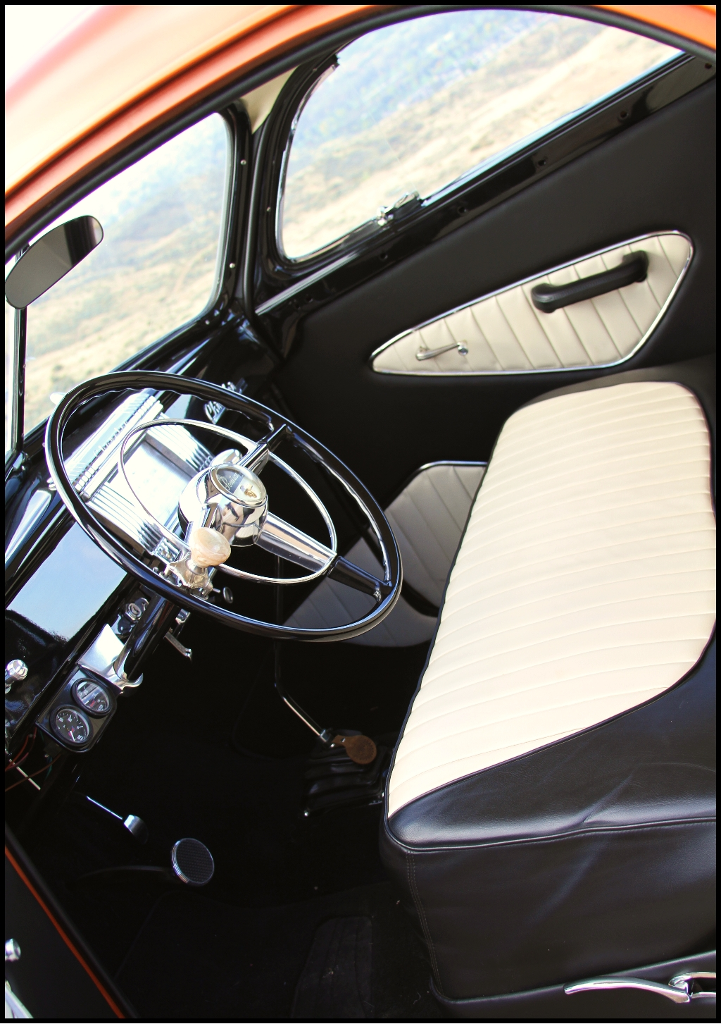 47 Chrysler Royal,traditional tuck and roll interior