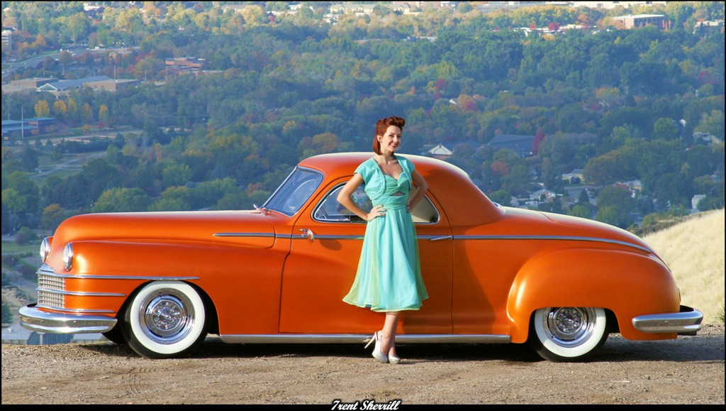 hot rod pinup, 47 Chrysler Royal, Custom Chrysler
