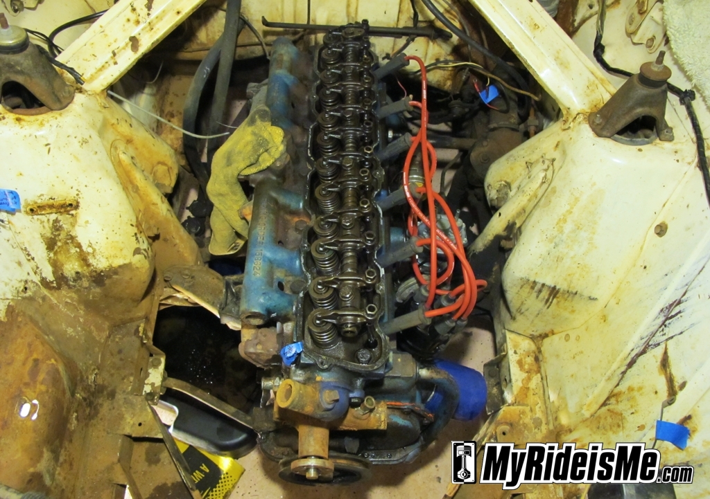 engine rebuild, straight six engine