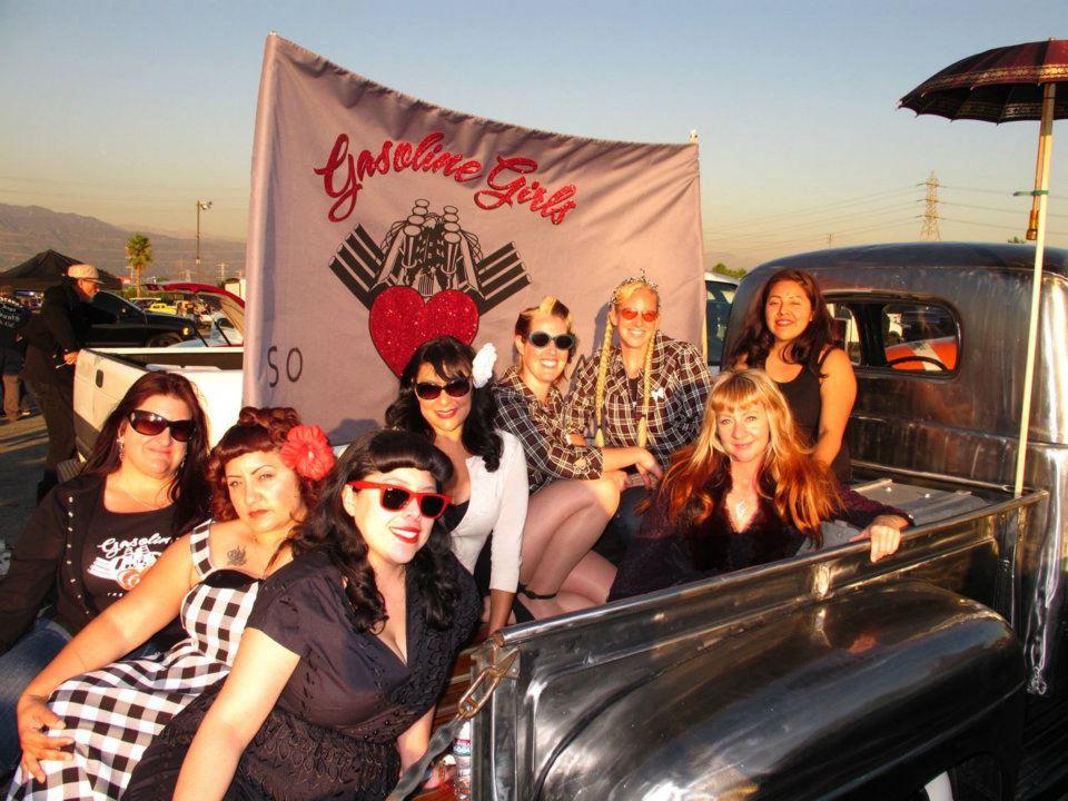 mooneyes party, gasoline girls car club