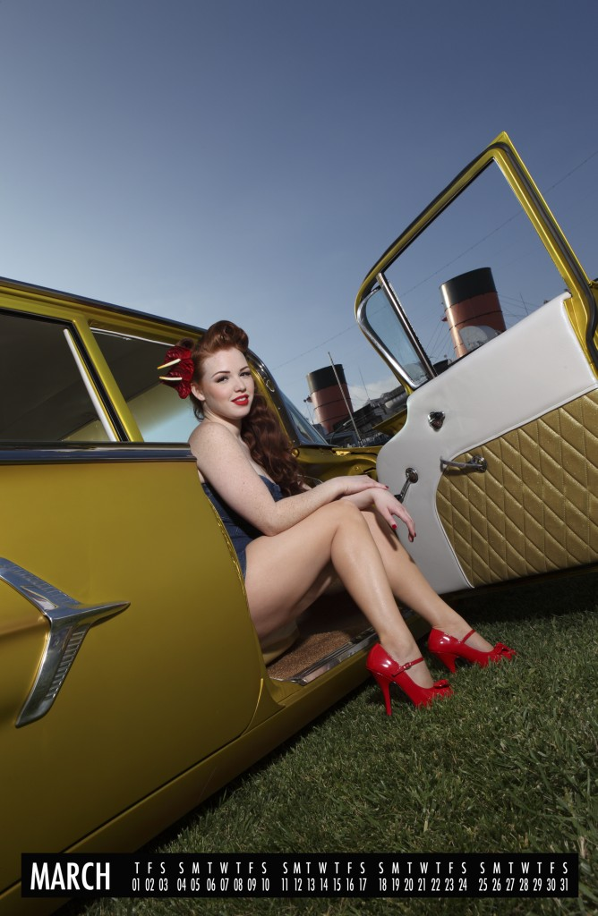 2012 pinup calendar, hot rod pinups, 2012 pin up calendars