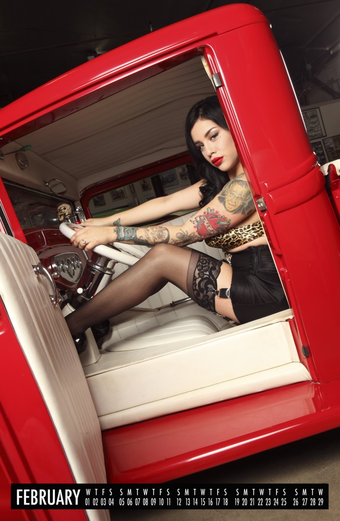 hot rod pinups, 2012 pinup calendar, pin up calendar