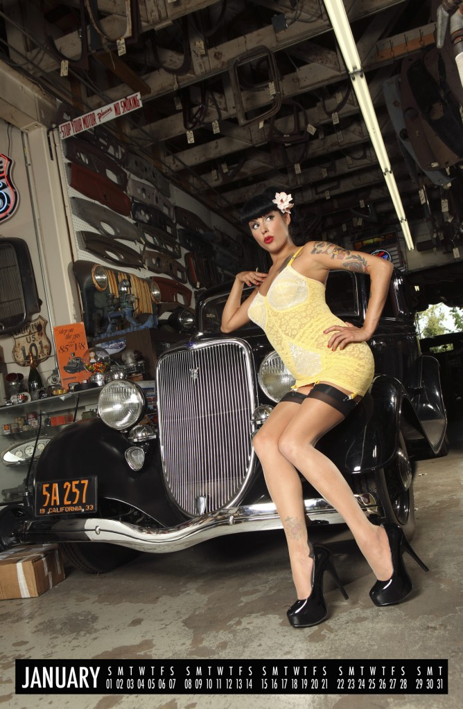 2012 pinup calendar, hot rod pinups