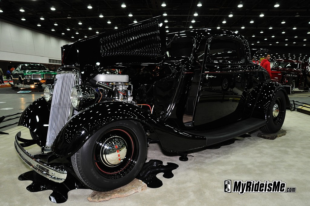 1934 hot rod, 2012 Detroit Autorama, 1934 Ford Hot Rod Coupe, turbo flathead