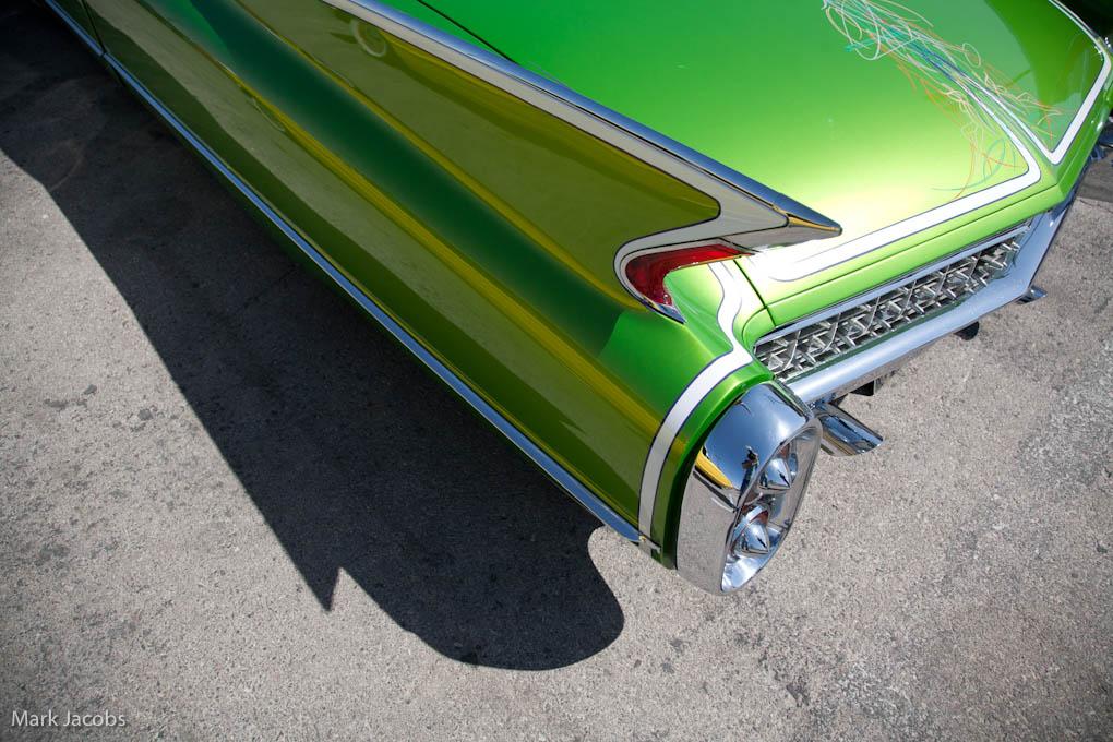 pinstriping, pinstriping design, viva rockabilly, Cadillac fins