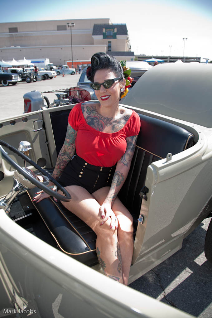 hot rod pinups, viva rockabilly car show, rat rod girls